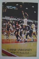 Vintage Basketball Media Press Guide Lamar University 1974 1975