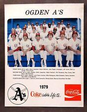 1979 OGDEN A's Team Photo full color.  PCL minor league baseball