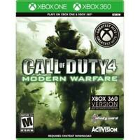 Call Of Duty 4 Modern Warfare XBOX 360 Game Used