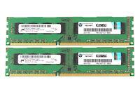 Micron 4GB 2X 2GB 2RX8 PC3-10600U DDR3 1333MHz 240PIN DIMM Intel Memory Desktop