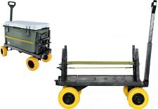 Flatbed 4 Wheel Cart Dolly Platform Trolley Carts Hand Pull Wagon Indoor Outdoor