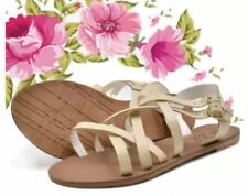 Khoee Angel Women's Korean Flat Sandals (Beige)  SIZE 36
