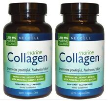 2 X NEOCELL MARINE COLLAGEN 120 CAPSULES TABLET EXCELLENT FOR YOUTHFUL SKIN HAIR