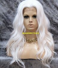Lace Front Full Wig Long Wavy Layered White Heat Ok Hair Piece NWT