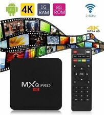 2019 New MXQ Pro Android Smart TV BOX Ultra HD 4K WIFI Quad-Core 1G+8G Media UK