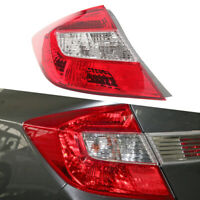 Car Left Rear Brake Light Lamp Tail Lamp Outer Fit For Honda Civic Sedan 2012-13