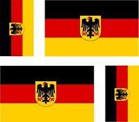 4 x Aufkleber Auto Sticker motorrad mit Adler Fahne Flagge Deutschland