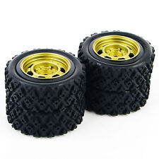4X 1/10 RC Tyres Tires&Wheel Rally For 12mm Hex HSP HPI Off Road Car