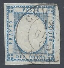NAPOLI 1861 2Gr AZZURRO Nº 20 PUNTI 10 CELANO AQUILA