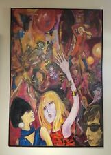 1967 OIL PAINTING ON BOARD by NANCY TEOFILO-DISCOTEQUE-FANTASTIC!!!