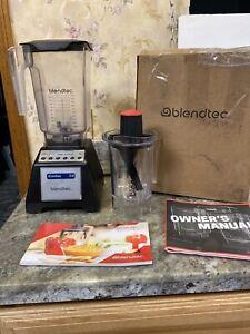 Blendtec Total Blender ES3 Black W/ 36oz Wildside Container & Twister Jar 1560W