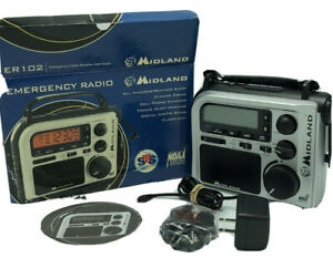 Midland ER102 Emergency Survival Radio Crank Power Weather Alert AM/FM Multi use