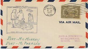 "KANADA 1929 sehr selt. Kab.-Erstflug Canada Air ""FORT McMURRAY - FORT McPHERSON"""