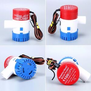 """Boat Marine 1100 GPH Submersible Electric Bilge Pump 1-1/8"""" Outlet Amarine-made"""