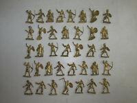 37 alte Elastolin Kunststoff Figuren Golden-Minis Wildwest Normannen Römer 4cm