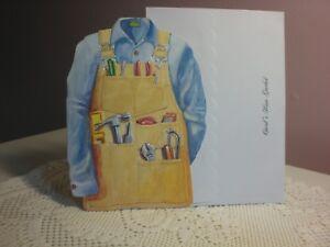 Carol's Rose Garden - Blank - An handmans apron on the front