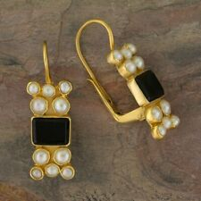 Troy Onyx and Pearl Earrings: Museum of Jewelry