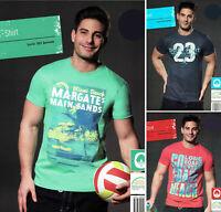Herren T-Shirt mit Motiv Rundhals Doppelnähte gute Qualität saugstark Baumwolle