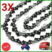 3X 14inch CHAINSAW CHAIN 3/8LP Pitch 50DL 0.050 GAUGE REPLACEMENT SAW SPARE PART