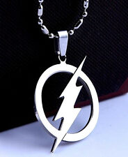 The FLASH Necklace Stainless Steel Pendant & Ball Chain Unisex Lightning Bolt