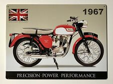 Triumph Precision Power Performance Tin Metal Wall Sign