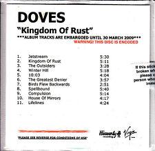 DOVES Kingdom Of Rust UK 11-trk numbered/watermarked promo test CD sealed