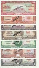 DOMINICAN REPUBLIC SET 7 PCS 1 5 10 20 50 100 1000 PESOS 1964-1974  SPECIMEN UNC
