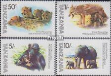 tanzanie 201-204 (complète edition) neuf avec gomme originale 1982 Animaux dehor