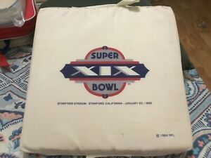 SUPER BOWL 19 (XIX) SEAT CUSHION/49ERS,DOLPHINS,JOE MONTANA, DAN MARINO,STANFORD