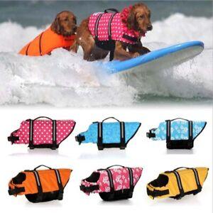 Small Large Dog Life Jacket Swimming Float Vest Reflective Buoyancy Sailing Aid