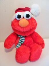 "Jim Henson Sesame Street Christmas Elmo Plush Soft Toy Doll 14"" Tall 1990s"