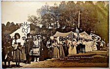 """Antique Real Photo Postcard-""""Old Home Week""""-Rushford N.Y.-1907 to 1915"""