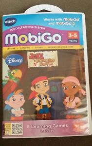 Vtech MobiGo Touch Learning System Disney Jake Never Land Pirates Problem Solve