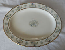 "MINTON FINE BONE CHINA HENLEY 16 1/2"" OVAL SERVING PLATTER MADE IN ENGLAND"