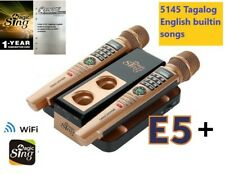 Magic Sing WiFi Wireless Mic 5145 Tagalog / Eng &1YR subscription for 220K song