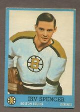 1962-63 Topps Hockey No. 17 Bruins Irv Spencer Vg- Ex