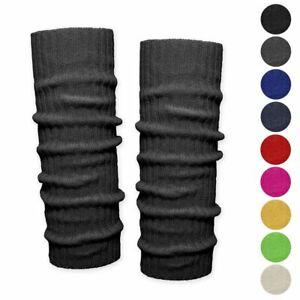 1 Paar Bein Stulpen unifarben Beinwärmer Grobstrick rot schwarz beige grün blau