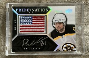 08-09 UD Black Pride Of A Nation Phil Kessel Patch Auto 25/25