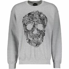 Designer BOLONGARO TREVOR Grey Graphic Print Sweatshirt / Jumper size L