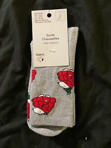 Size 8-9.5 H&M Snoopy Socks