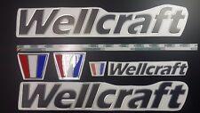 "WELLCRAFT boat Emblem 22"" black + FREE FAST delivery DHL express"