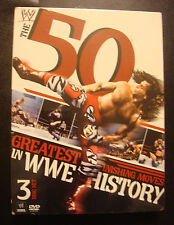 THE 50 GREATEST FINISHING MOVES IN  WWE HISTORY  DVDS  3-Disc Set  NIB (7 HOURS)