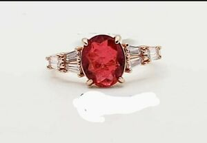 ring bomb party 3668 natural fusion thai ruby rose gold plate sz 9 srp$112