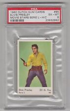 1960 DUTCH GUM CARD ELVIS PRESLEY MOVIE STARS SERIE L-H/C CARD #85 PSA 6 EX-MT