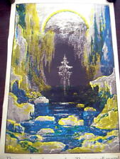 NIS REAL VINTAGE 23X34 ANCIENT MARINER BLACKLIGHT POSTER GHOST SHIP HIPPIE B1
