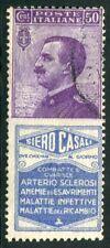1924/5 Italia Regno Pubblicitari Siero Casali 50 cent. usato spl