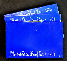 Ten 1969-S US Mint Proof Sets 10 Set Lot OGP