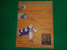 Rare: Song of the Sands 1929 sheet music Excellent Condition