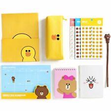 Line Friends Stationery Set Cute School Supplies Pencil Case Note Envelope Paper