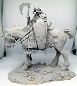 Resin Viking Warrior Model Kit Included Horse Scale 1-24 Not Finished Unpainted